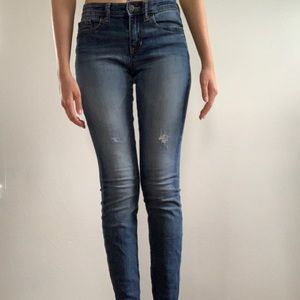 Lightly distressed jeggings